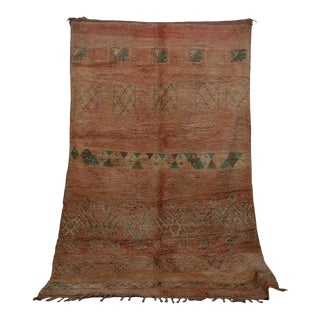 "Boujad Vintage Moroccan Rug, 6'9"" X 9'10"" For Sale"