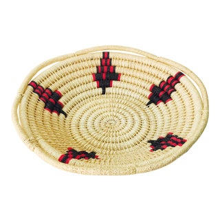 Large Vintage Southwestern Coil Basket For Sale