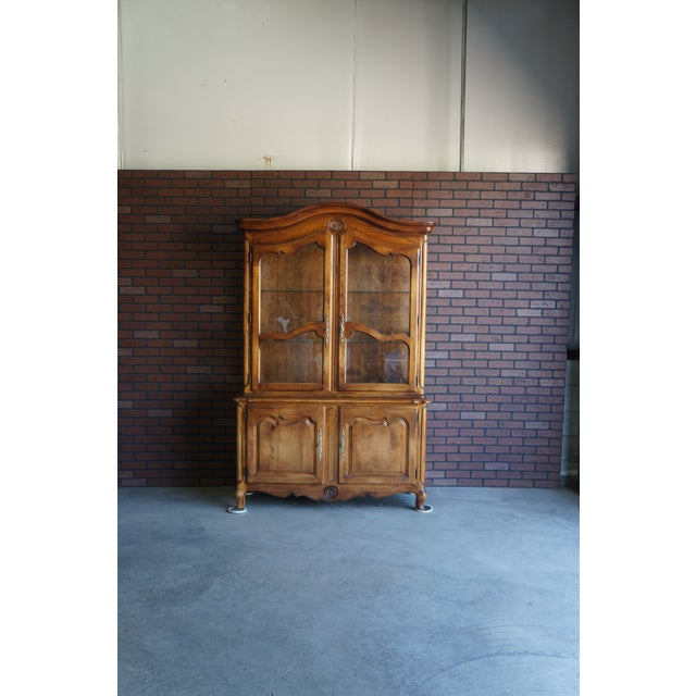 1980s French Country Ethan Allen China Cabinet For Sale - Image 12 of 12