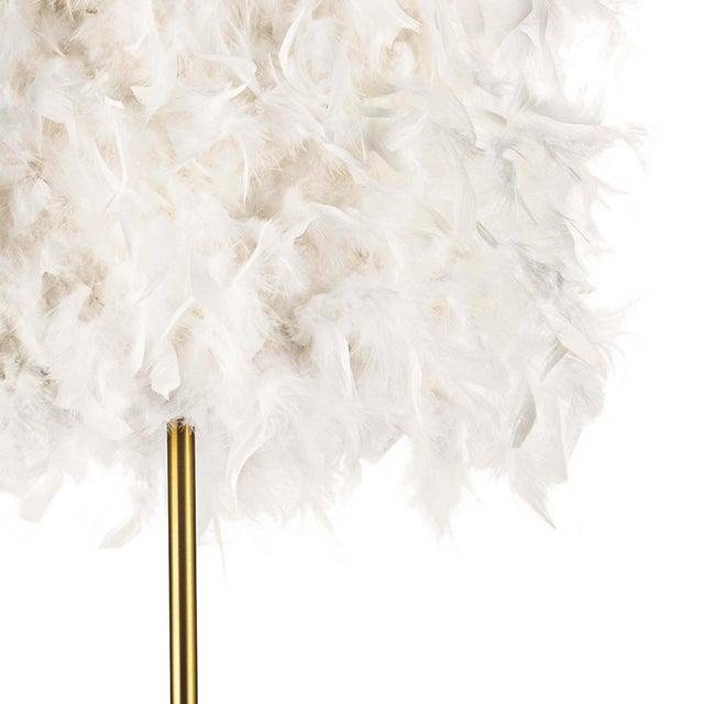 Jasmine Floor Lamp in White For Sale - Image 4 of 6