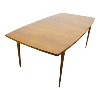 1960s Mid Century Modern Broyhill Brasilia Walnut Expanding Dining Table For Sale