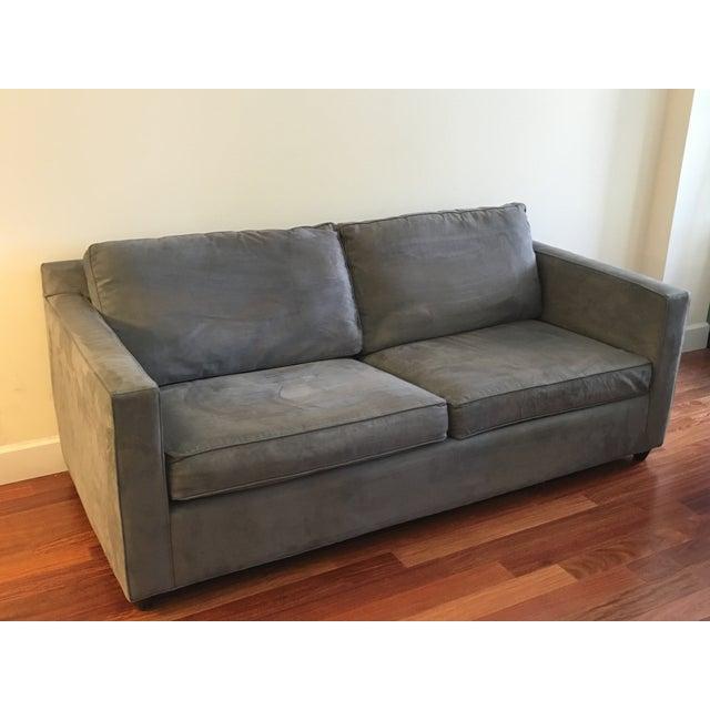 Crate & Barrel Crate & Barrel Microfiber Davis Apartment Sofa For Sale - Image 4 of 5