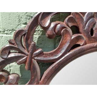 Round Carved Teak Mirror Frame Preview