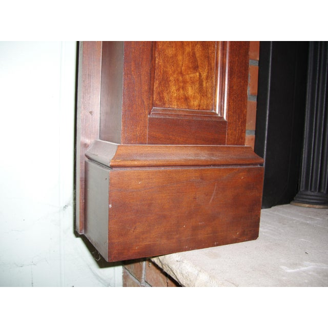 Red Modern Solid Cherry Fireplace Mantle Arched For Sale - Image 8 of 12
