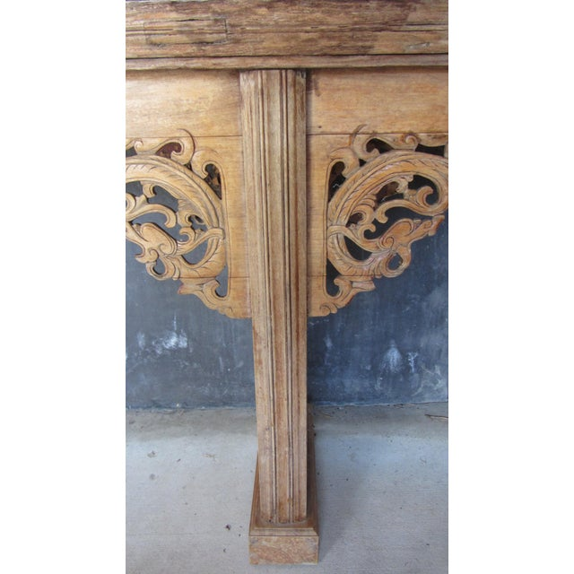 Teak Pagoda Style Console Table - Image 3 of 8