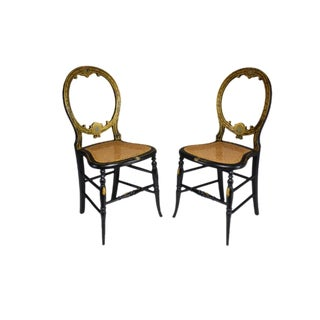 Pair of French 19th Century Napoleon III Chairs For Sale