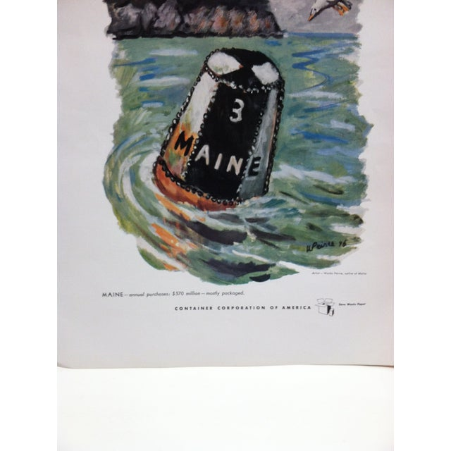 """Americana 1960s Vintage """"Maine"""" Container Corporation of America Color Advertising Print For Sale - Image 3 of 5"""