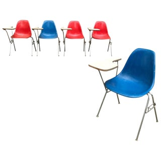 1950s Vintage Herman Miller Eames Dss Fiberglass Side Chairs- 5 Pieces For Sale