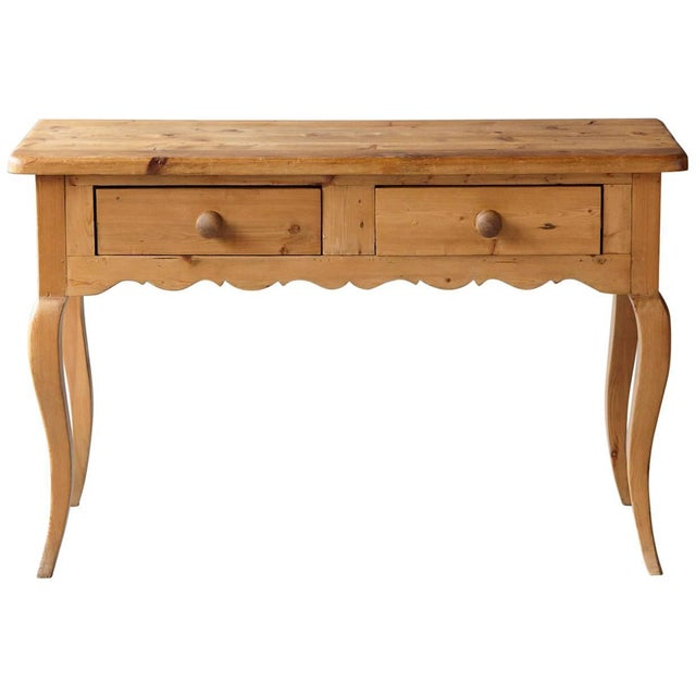 English Country Style Pine Console 2 of 2 For Sale - Image 9 of 9