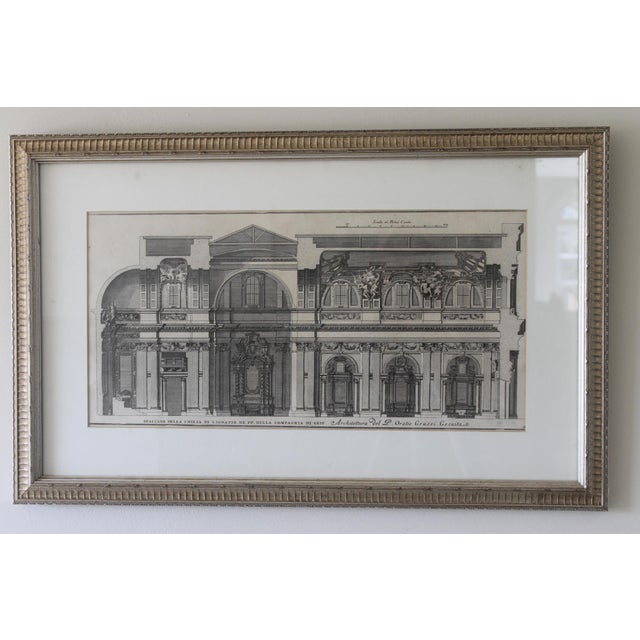 Early 19th Century Antique Spaccato De La Chiesa Architectural Print For Sale - Image 12 of 12