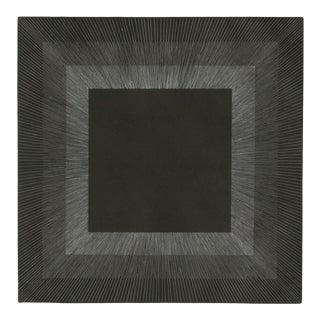 "Richard Anuszkiewicz, ""Midnight Suite"" (Black/Silver), Op Art Etching For Sale"