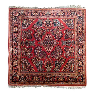 """Sarook Hand-Knotted Luxury Rug - 3'3"""" X 3'3"""" For Sale"""