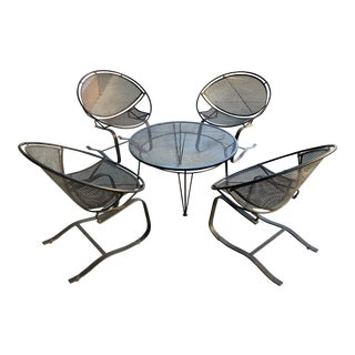 Vintage Salterini Radar Lounge Chairs and Coffee Table- 5 Pieces For Sale