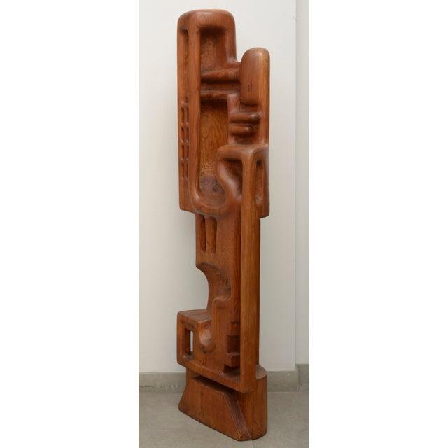 Henryk Burzec pitchpine abstract sculpture
