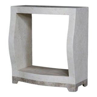 "1990s Postmodern Single Shelf Tessellated Stone ""Monaco"" Étagère For Sale"
