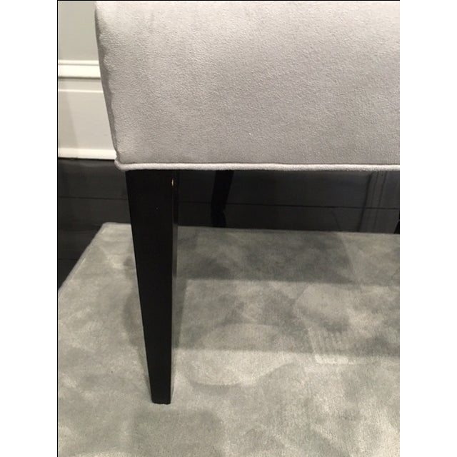 Vintage Chair With Donghia Gray Ultrasuede - Image 3 of 7