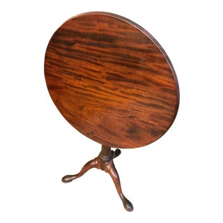 18th Century George II Mahogany Tilt Top Table For Sale