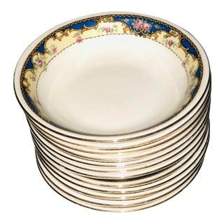 Antique 1920s Porcelain Finger Bowls - Set of 12 For Sale