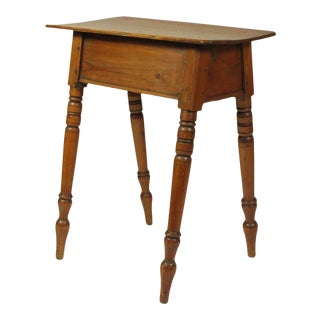 18th-C. Ameircan Ash Side Table For Sale