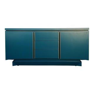 1970s Vintage American of Martinsville Teal Dresser For Sale