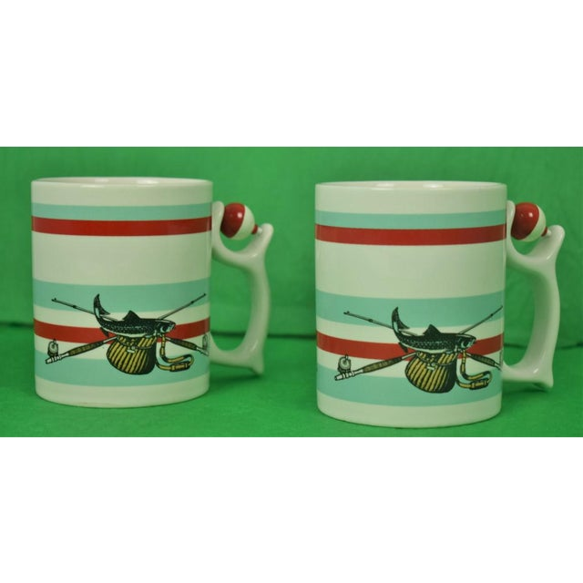 1980s 1980s Adirondack Spinners Angling Mugs - a Pair For Sale - Image 5 of 5