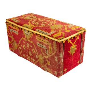 English Victorian Turkish Carpet Trunk For Sale