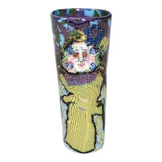 Jane Peiser Art Pottery Salt Glazed Porcelain Vase For Sale