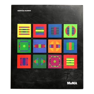 Perpetual Wall Calendar by Dan Reisinger for the Museum of Modern Art For Sale