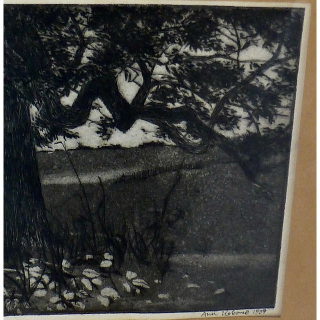 Black/White Print by Ann Usborne Signed Autumn Night For Sale - Image 5 of 10