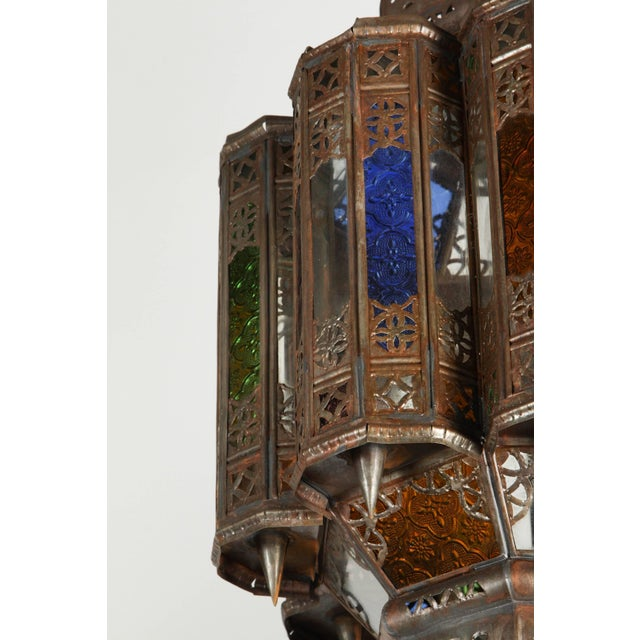 Islamic Vintage Moroccan Mamounia Glass Pendant For Sale - Image 3 of 7
