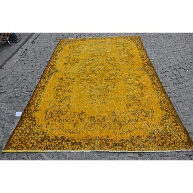 Turkish Handmade Yellow Rug - 5′8″ × 9′6″ - Image 2 of 6