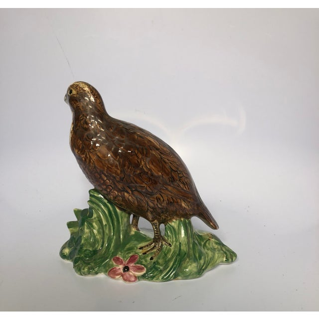 Beautifully hand painted quail figurines. Vibrant colors and in excellent condition.