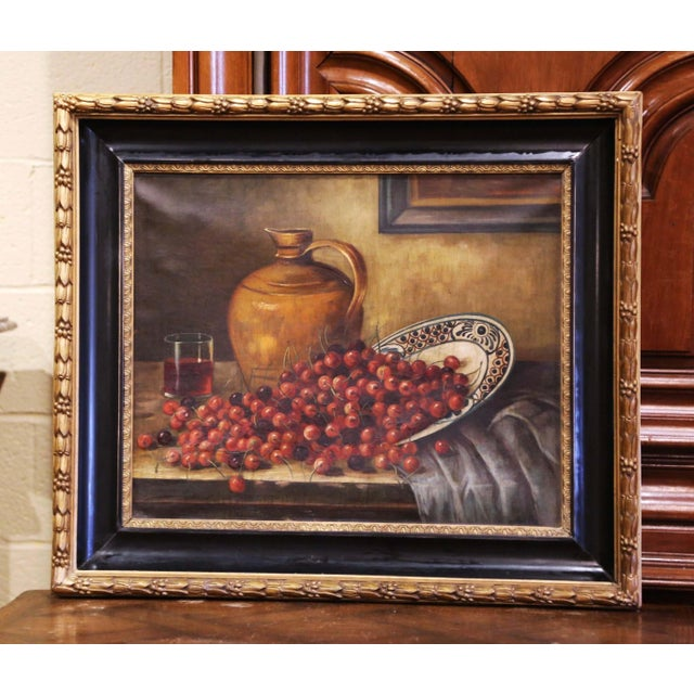 19th Century French Signed Oil on Canvas Painting in Carved Gilt Frame For Sale - Image 11 of 11