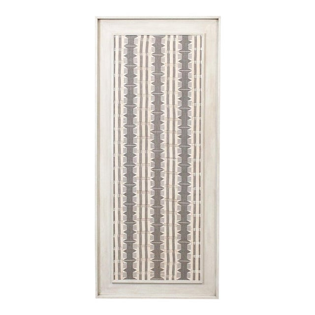 1970s Framed Modernist Textile For Sale - Image 12 of 13