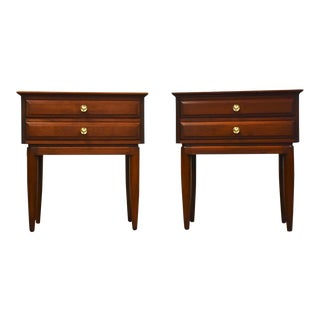Solid Cherry Nightstands by Willett - a Pair For Sale