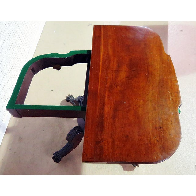 Late 19th Century Antique Traditional Duncan Phyfe Style Card Table For Sale - Image 5 of 10