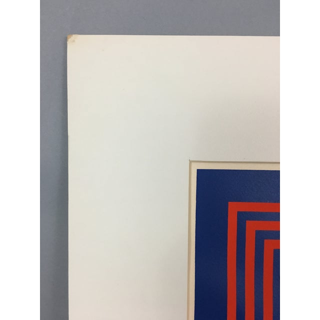 """1971 Vintage """"New Perspective"""" Geometric Op Art Serigraph Collage by Anne Youkeles For Sale In Washington DC - Image 6 of 13"""