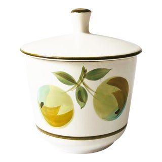 Mid Century Lidded Casual Ceram Longchamp Container For Sale