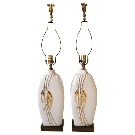 Vintage Faux Bamboo Table Lamps - A Pair - Image 1 of 8