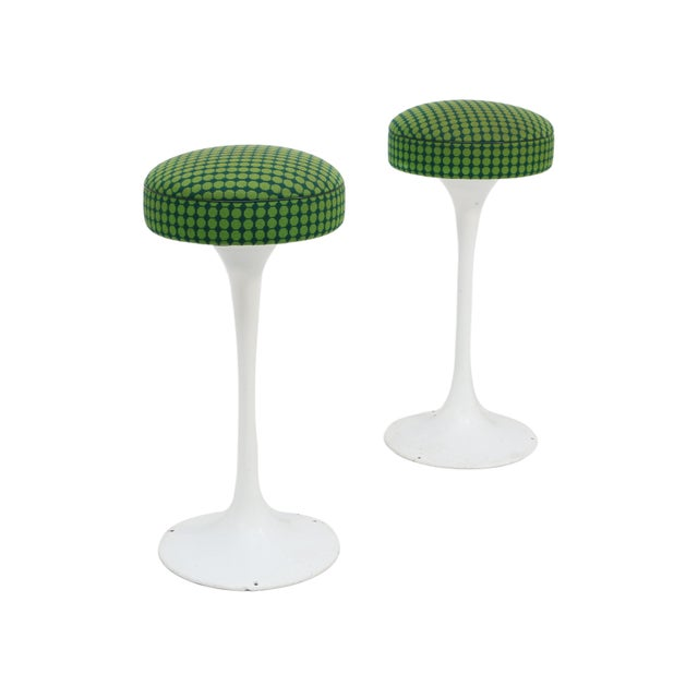 Fabric Tulip Base Bar Stools by Knoll For Sale - Image 7 of 7