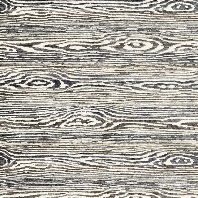 Transitional Scalamandre Muir Woods Fabric in Graphite Sample For Sale - Image 3 of 3