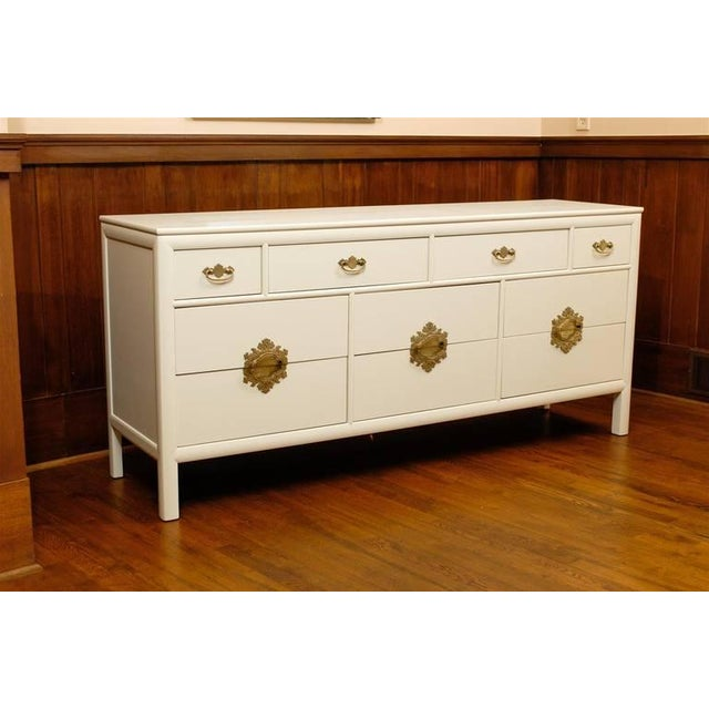 Gorgeous Ten-Drawer Chest by Century Furniture Company, Pair Available For Sale - Image 10 of 11