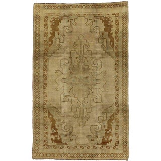 Vintage Mid-Century Turkish Kars Rug - 6′9″ × 11′ For Sale