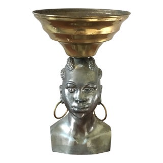 Geo I Trevino African Bust Bowl For Sale