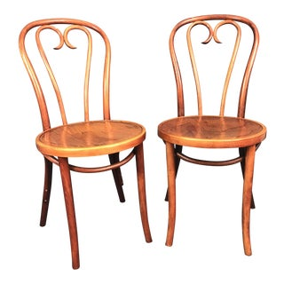 Thonet Style A16 Bentwood Heart Cafe Chair A Pair