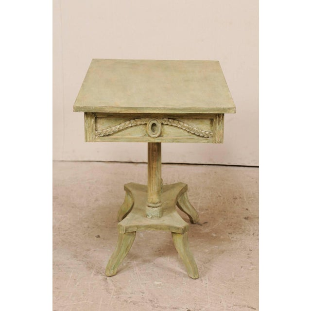Swedish 19th Century Neoclassical Painted and Carved Wood Lindome Style Table For Sale In Atlanta - Image 6 of 10