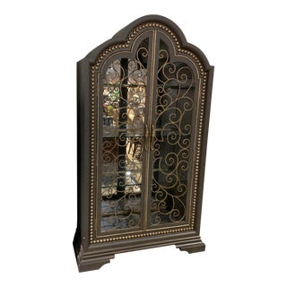 Maitland Smith Iron Curio Cabinet For Sale