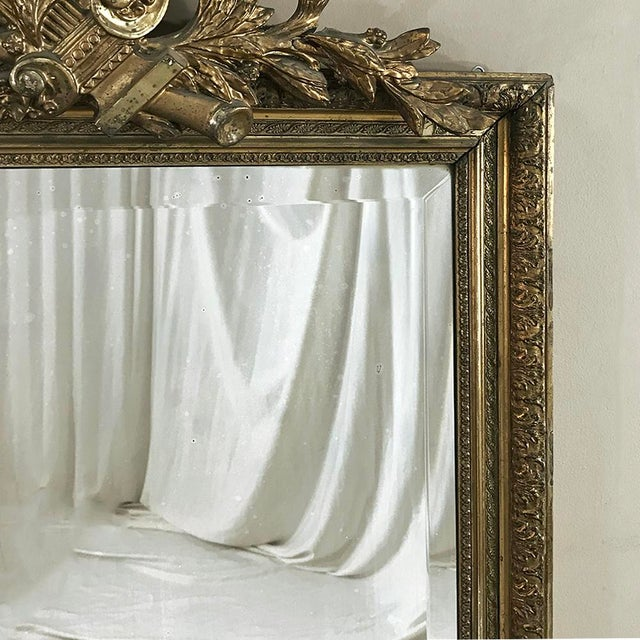 Gold 19th Century French Louis XVI Gilded Mirror For Sale - Image 8 of 12