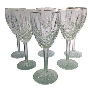 Waterford Golden Araglin Wine Glasses - Set of 6 For Sale
