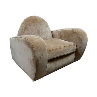Velvet Art Deco Club Chair